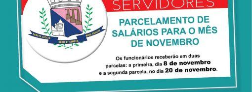Prefeito anuncia parcelamento do salário dos funcionários já no mês de novembro