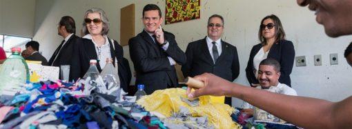 Ministros Sérgio Moro e Carmen Lúcia visitam a unidade da Apac em Santa Luzia