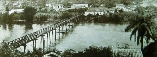 História da ponte sobre o Rio das Velhas ligando parte alta e parte baixa da cidade