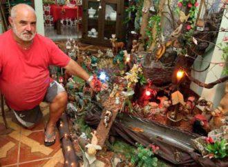 Luzienses se entregam à arte de preservar a tradição de montar presépios em casa