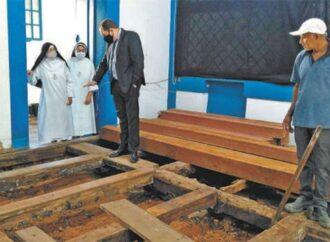 Mosteiro de Macaúbas consegue concluir etapa de recuperação de piso de madeira